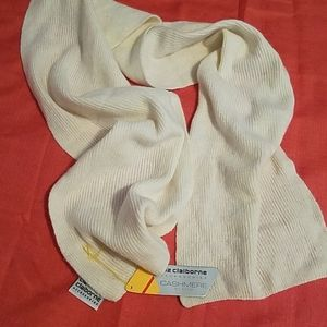 Liz Claiborne Cashmere Blend Cream Color Scarf NEW